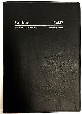 Diary 2018/2019 Financial Year Collins A6 Week to Opening Black 36M7 10.5x14.9cm