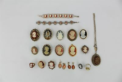 20 pieces of vintage cameo jewellery inc bracelets earrings ring 20 pieces of vintage cameo jewellery inc bracelets earrings ring mozeypictures Choice Image
