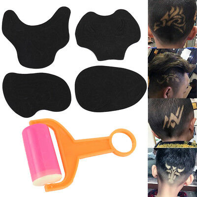 25Pc Hair Tattoo Template Carving Trimmer Stencil Sticker Temporary Tattoos
