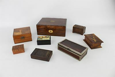 8 x VINTAGE wooden chests, boxes & jewellery boxes inc musical & painted
