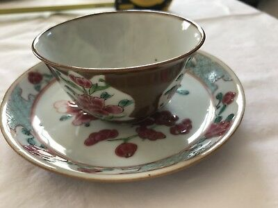 Chinese export cup & saucer