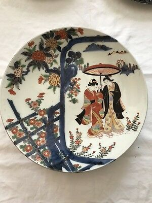 Imari dish with two women with parasol 19th c.