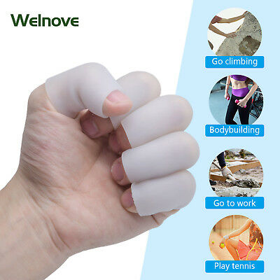 4pcs Sleeves Separators Protector Soft Silicone Gel Finger Tube Protector D1197