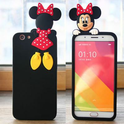 New Lovely 3D Minnie Mickey Soft Plastic Phone Case Cover For iPhone 6 7 8 Plus