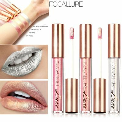 Metallic Long Lasting Matte Lip Gloss Waterproof Sexy Glitter Liquid Lipstick