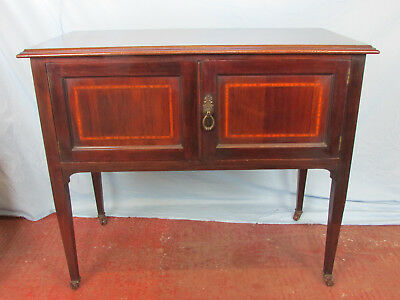 Mahogany Inlaid cupboard - Perfect for the hallway / telephone table