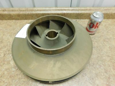 "NEW 14 1/2"" Pump Impeller 7 Vane 1 11/16"" Bore Brass Bronze NEW"