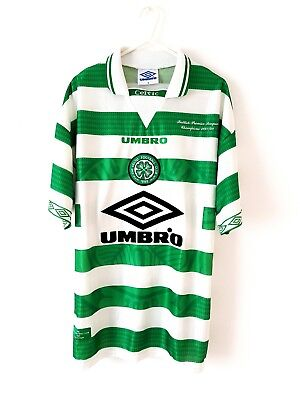 Celtic Home Shirt 1997. Medium. Umbro. Green Adults M Football Top Only.