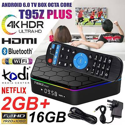 New T95Z Plus S912 2GB+16GB Octa Core Android 6.0 TV Box 2.4/5Ghz Dual Band WiFi