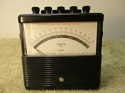 Classic Vintage Weston 904 AC Voltmeter. Analog Lab SteampunK Collectable Good