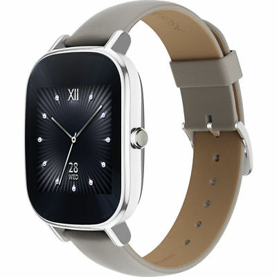 ASUS ZenWatch 2 W1502Q with HyperCharge (Silver Case,Leather Khaki Band) VB