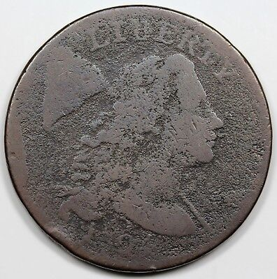 1794 Liberty Cap Large Cent, Head of '94, scarce S-62, R.4, G-VG detail