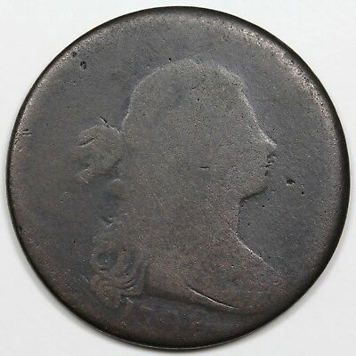 1796 Draped Bust Large Cent, Reverse of '97, rare S-100, R.5, AG