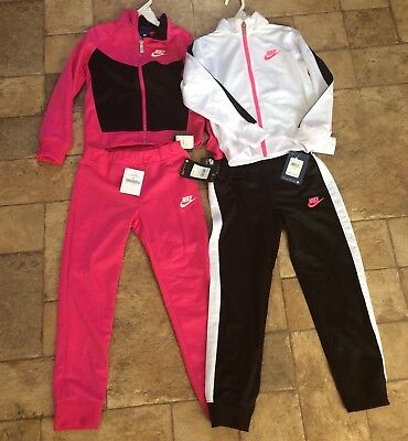 2 Nike Girls Size 6X Track Suits Set NWT 4 Pieces Lot
