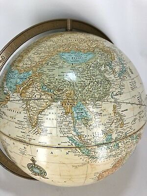 """Cram's Imperial 12"""" Globe Vintage USSR East West Germany USA No Stand or Degree"""