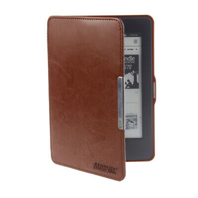 Kindle Case For Paperwhite WiFi Slim Magnetic PU Leather Flip Case - Brown - NEW