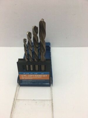 Century Drill and Tool 74105 Left Handed Drill Set, 4 Piece