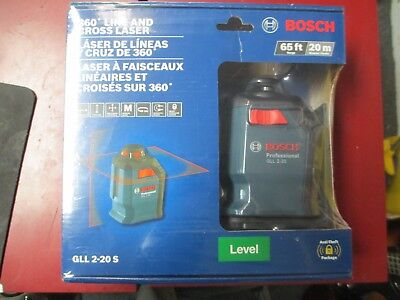 New Bosch Gll 2-20 S 360 Degree Line And Cross Laser Level