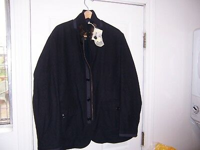 Mens Barbour Wool Coat Jacket Xxl Nwt Fits Xl