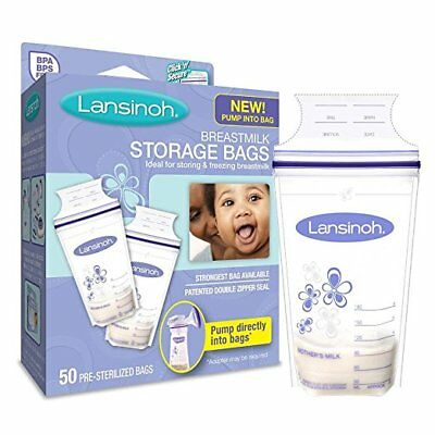Lansinoh Breastmilk Storage Bags With Convenient Pour Spout 50 Bags