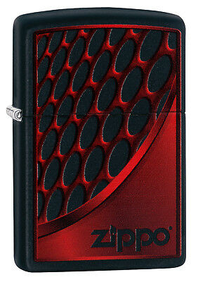 Zippo red and chrome black matte 60003392 COLLECTION 2018 NEU