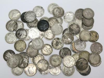 66x Canada 5 cent silver coins damaged with readable dates see list 1870-1920