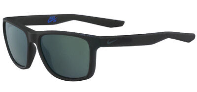 Nike Flip Men's Matte Seaweed/Grey w/ Blue Mirror Lens Sunglasses EV0989 332