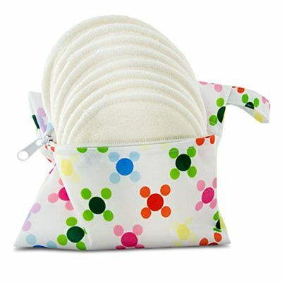 Contoured Nursing Pads 12cm Extra Thick White By Serenity Bamboo