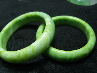Pair FINELY CARVED CHINESE Jade bracelet         1