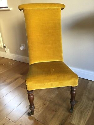 Antique Victorian Prie Dieu High Back Prayer Chair