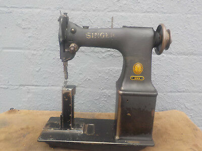 Industrial Sewing Machine Model Singer 51W51-post, Light Leather