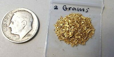 Gold Fine Gold and flakes from Idaho, 2 Grams.