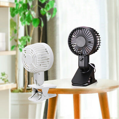 USB Portable Fan Rechargeable Battery Mini Oscillating Clip On Desk/ Stroller
