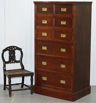 Rrp £5999 Harrods London Large Campaign Drinks Cabinet Drawers Solid Hard Wood