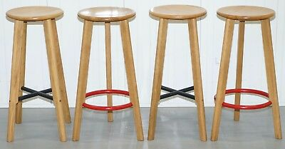 Four Naughts & Crosses Kitchen Bar Stools By Michael Sodeau For Modus Furniture