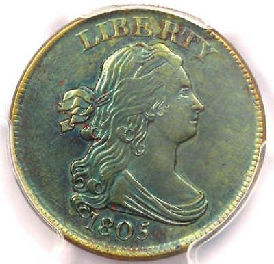 1805 Draped Bust Half Cent 1/2C Coin - PCGS Uncirculated Details (UNC MS)!