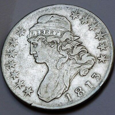 1813 O-104 Lettered Edge Capped Bust Half Dollar - Very Fine