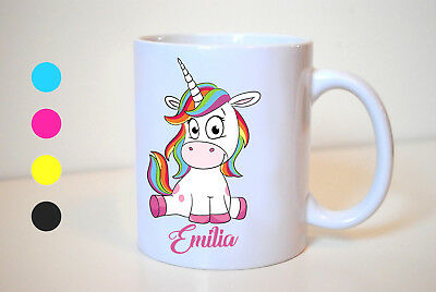 Personalised Unicorn Mug - cup printed with your name - international shipping