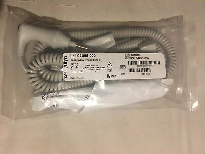 New Welch Allyn #02895-000, OEM Oral 9ft Probe Well Kit For Vital Signs Monitors