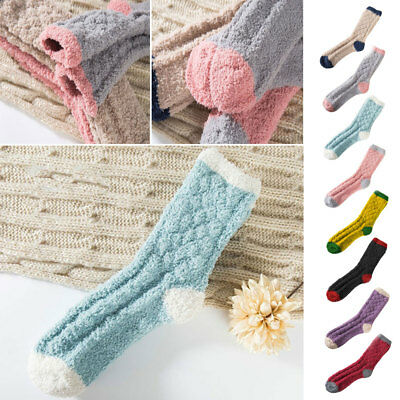 Hosiery Women Socks Comfortable Casual Fluffy Candy Color Gift Birthday Present