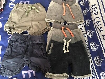5 Pairs Of Boys Shorts Age 18-24 Months