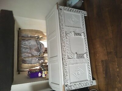 French coffer blanket box anituque very old painted