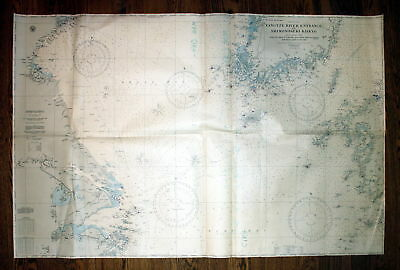 1933 China Japan Yangtze River Entrance Shimonoseki Kaikyo Pacific map chart