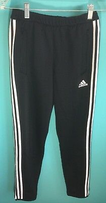 Adidas Climacool Youth Warm Up Training Pants Black and White Size Youth Medium
