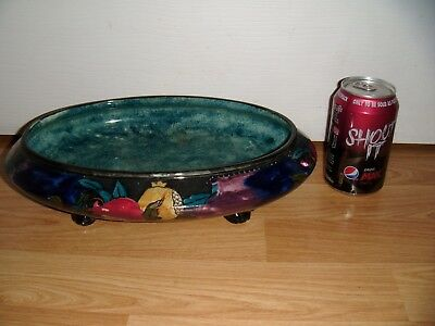 Rubens Ware by Hancock &Sons Pomegranate Pattern Footed Dish c1915 Hand Painted