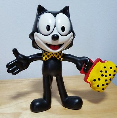 Vintage 1989 Felix the Cat Cartoon Character Bendable Figure
