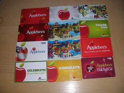 Applebee's  12 different new collectible gift cards