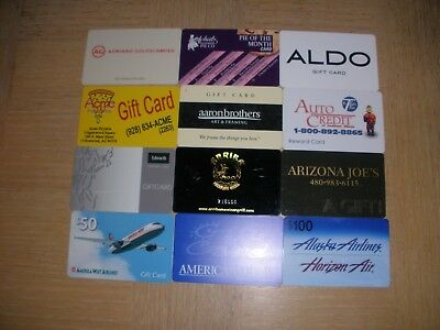 Miscellaneous   12 different new collectible gift cards
