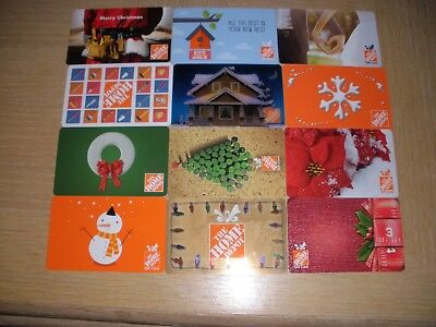 Home Depot   12 different new collectible gift cards