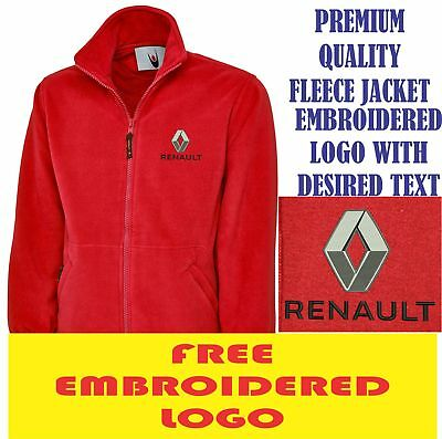 Embroidered Renault Logo Fleece Jacket, Workwear Uniform Renault Sports Top